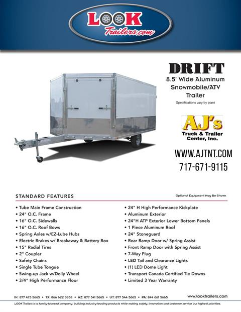 2020 Look Trailers 8.5x12 AEDFT Drift Aluminum Enclosed Snowmobile Trailer 3.5K in Harrisburg, Pennsylvania - Photo 16