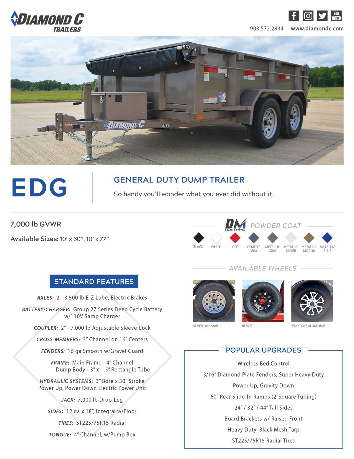 2020 Diamond C 10X60 EDG Dump Trailer 7K- 32HS in Harrisburg, Pennsylvania - Photo 18