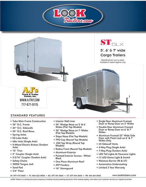 2020 Look Trailers 5X8 STDLX Cargo Trailer Ramp +6 in Harrisburg, Pennsylvania - Photo 9