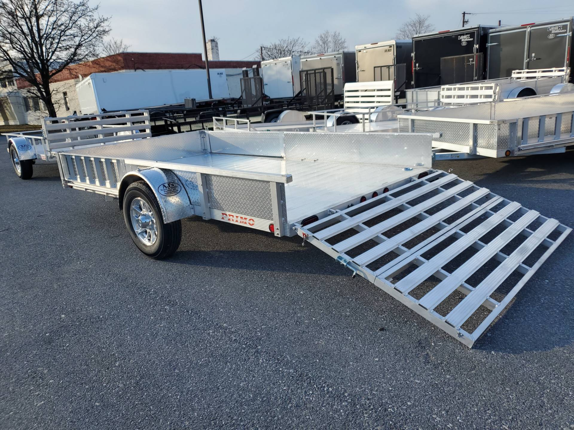 2021 Primo 82x14 Single Axle ATV Side Load ATV Ramps SS in Harrisburg, Pennsylvania - Photo 14