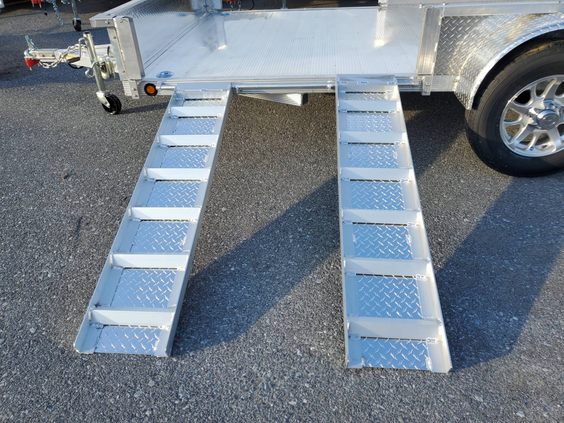 2021 Primo 82x14 Single Axle ATV Side Load ATV Ramps SS in Harrisburg, Pennsylvania - Photo 16