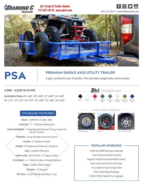 2020 Diamond C 12x82 PSA ATV Trailer DV PT 5K in Harrisburg, Pennsylvania - Photo 15