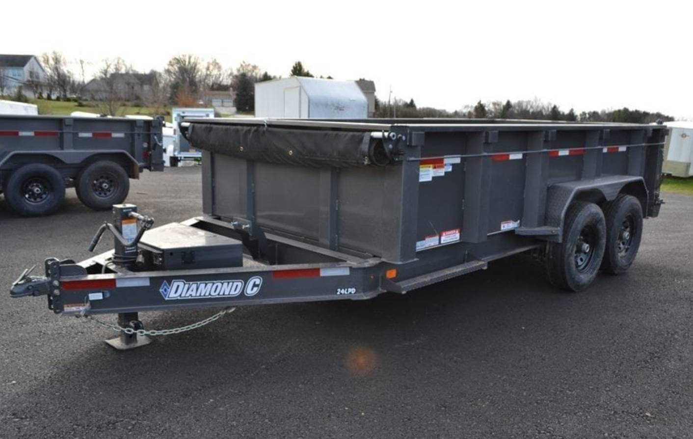 2018 Diamond C 14X82 24LPD Dump Trailer 32HS in Harrisburg, Pennsylvania - Photo 9