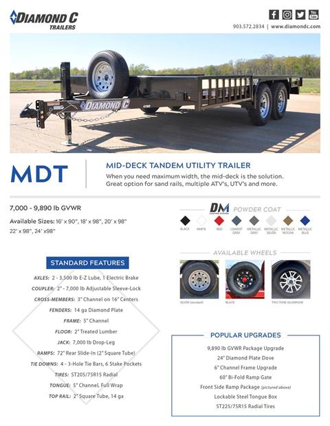 2018 Diamond C 16X98 47MD ATV Utility Trailer in Harrisburg, Pennsylvania - Photo 14