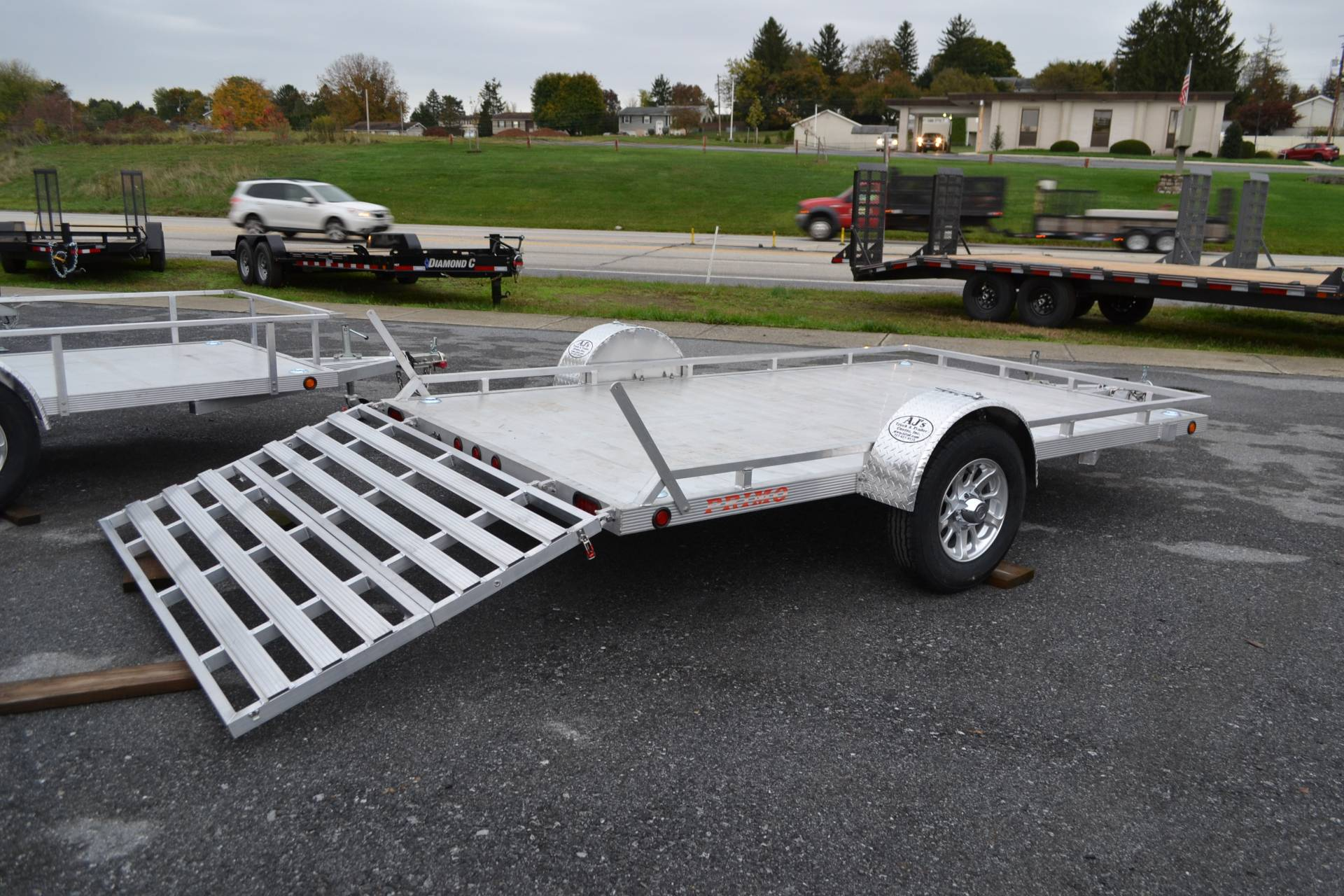 2022 Primo 82x14 Single Axle Utility Low Profile Tube Rail in Harrisburg, Pennsylvania - Photo 10