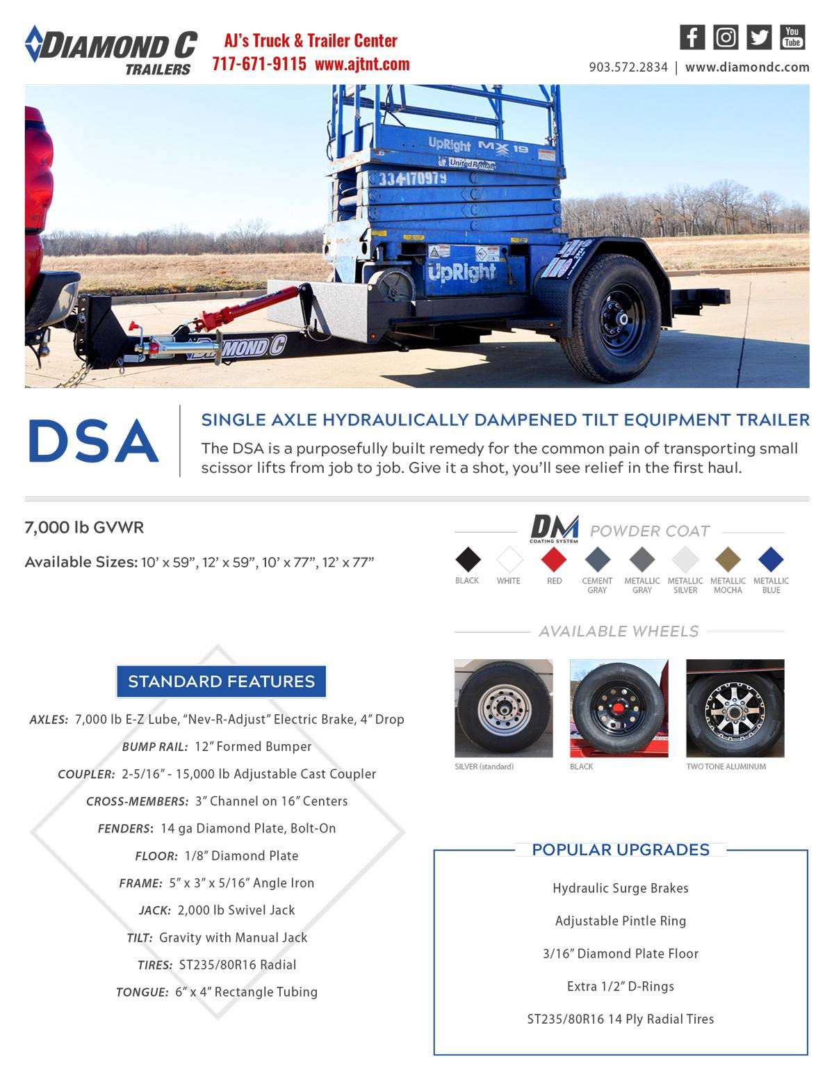 2019 Diamond C 10X77 DSA Equipment Trailer 7K in Harrisburg, Pennsylvania - Photo 8