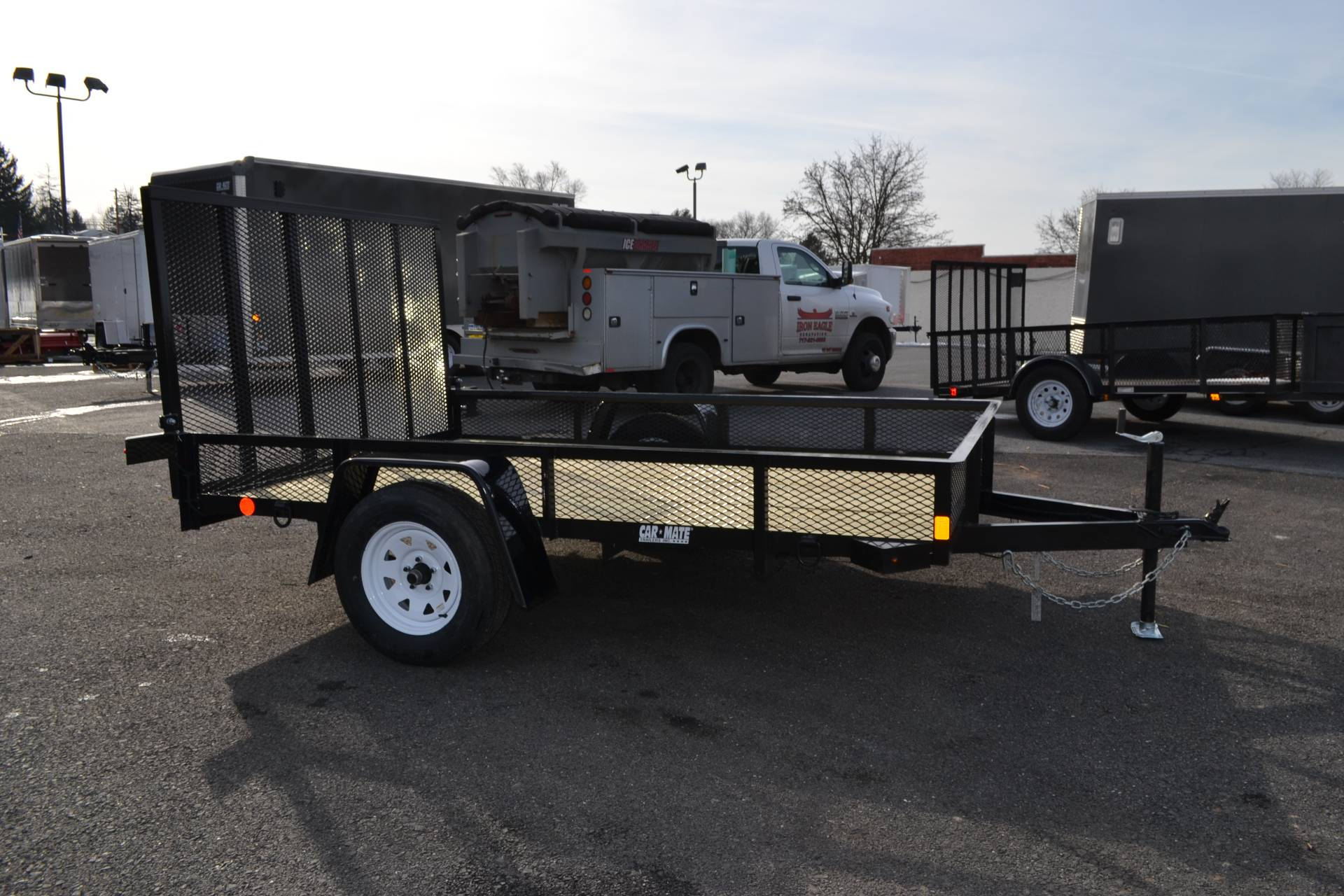 2021 Car Mate Trailers 6x12 Utility Trailer D-Rings Mesh in Harrisburg, Pennsylvania - Photo 1