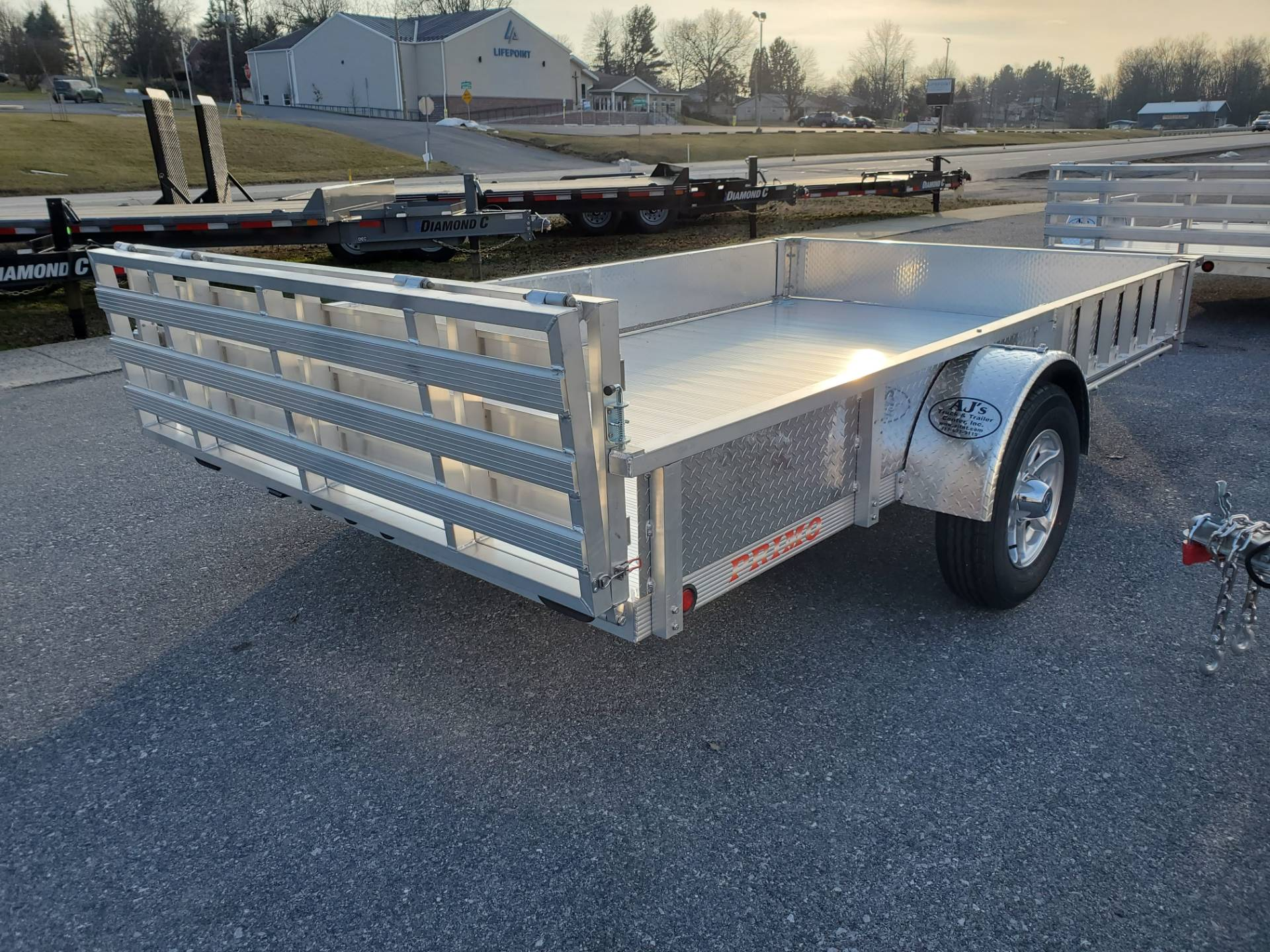 2021 Primo 82x12 Single Axle ATV Side Load ATV Ramps SS in Harrisburg, Pennsylvania - Photo 7