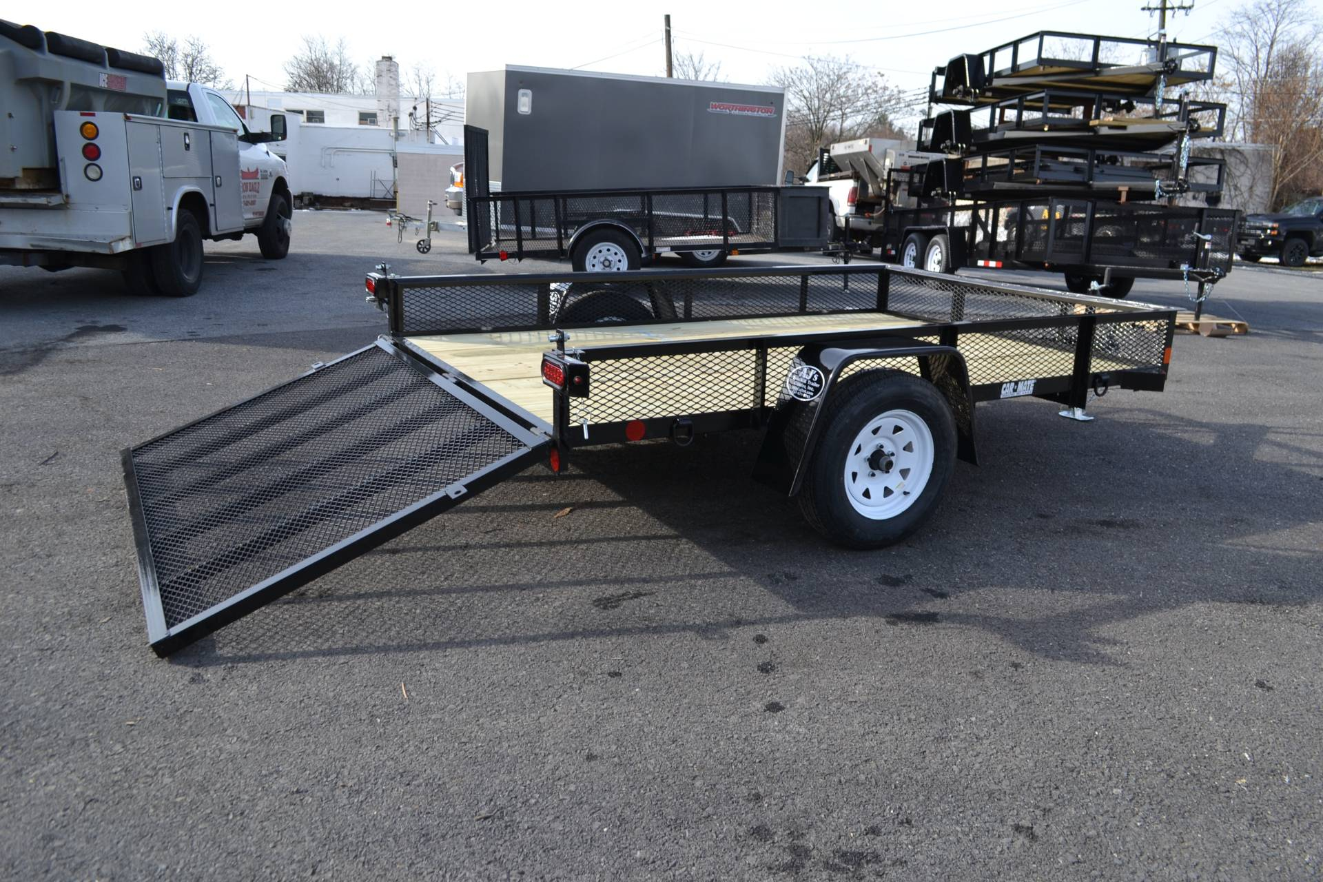 2021 Car Mate Trailers 6x10 Utility Trailer Mesh in Harrisburg, Pennsylvania - Photo 2