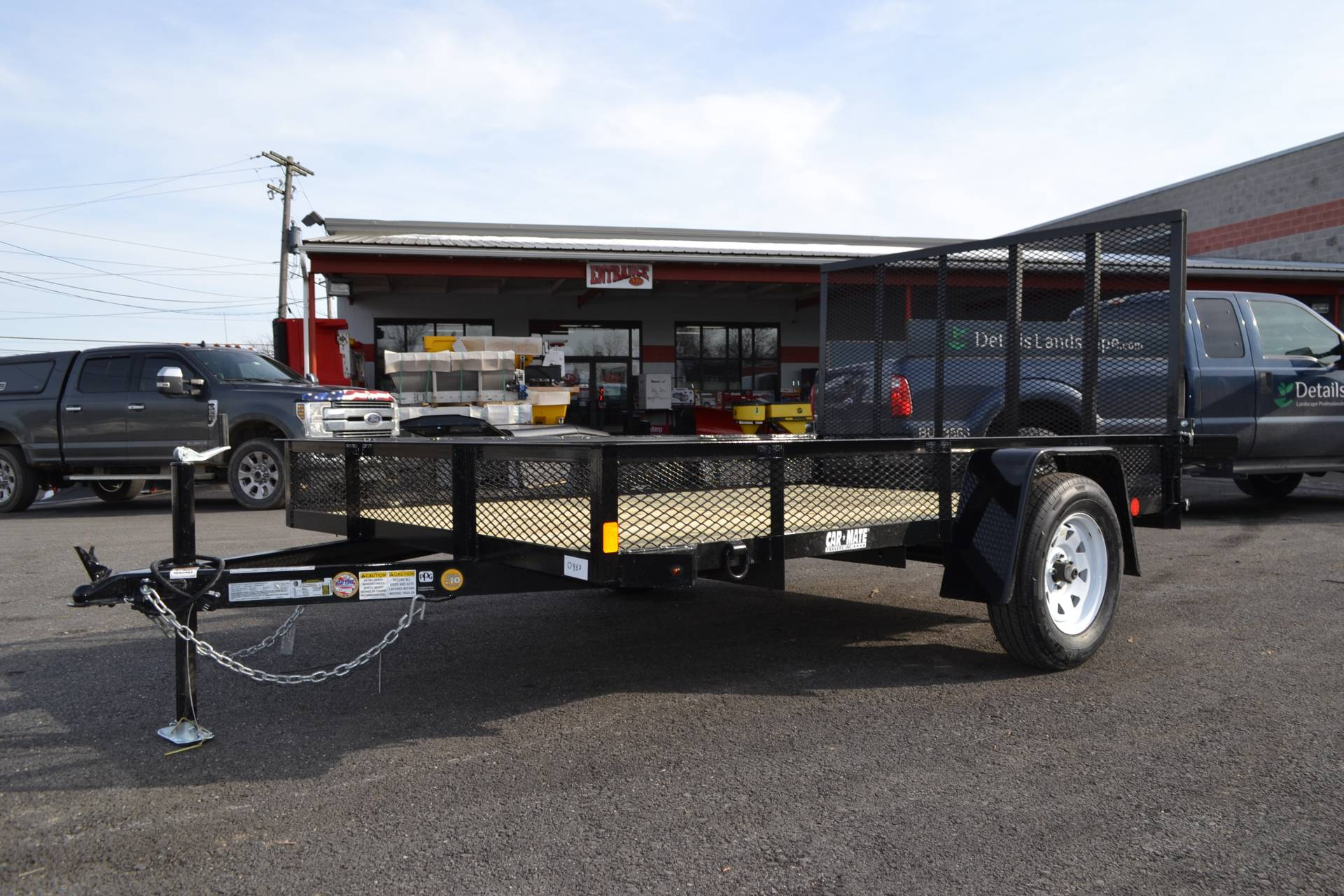 2021 Car Mate Trailers 6x10 Utility Trailer Mesh in Harrisburg, Pennsylvania - Photo 10
