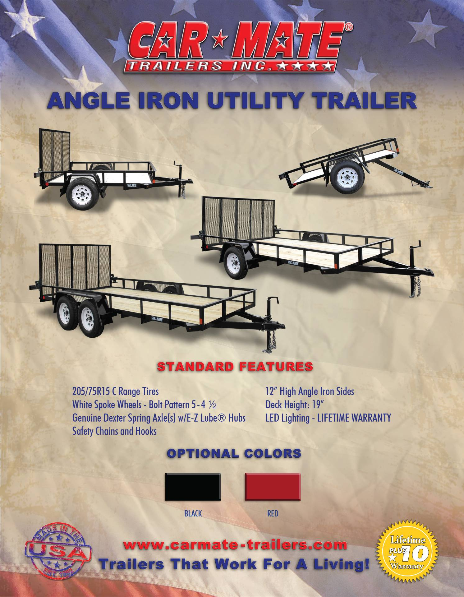 2021 Car Mate Trailers 6x10 Utility Trailer Mesh in Harrisburg, Pennsylvania - Photo 12