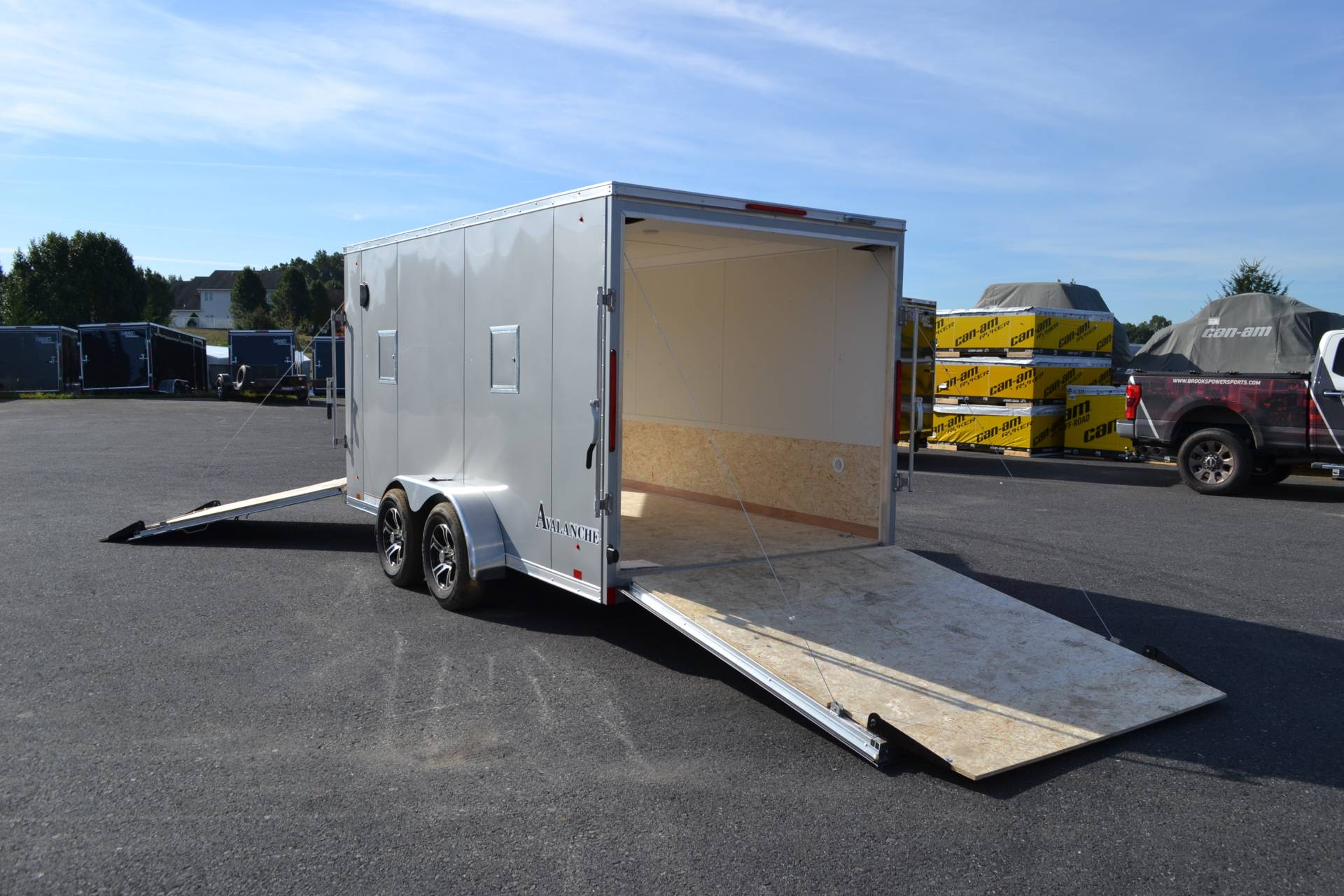 2020 Look Trailers  7x19 Avalanche Aluminum Enclosed Snowmobile Trailer 7K +6 in Harrisburg, Pennsylvania - Photo 8