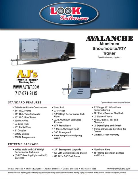 2020 Look Trailers  7x19 Avalanche Aluminum Enclosed Snowmobile Trailer 7K +6 in Harrisburg, Pennsylvania - Photo 23