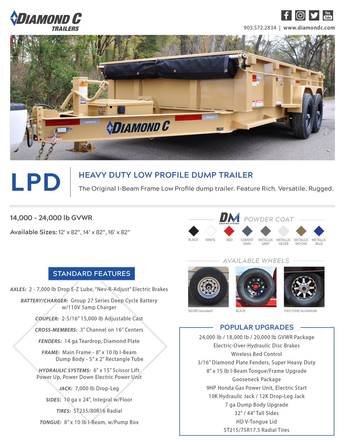 2021 Diamond C 12X82 LPD Dump Trailer 32HS HDV in Harrisburg, Pennsylvania - Photo 17