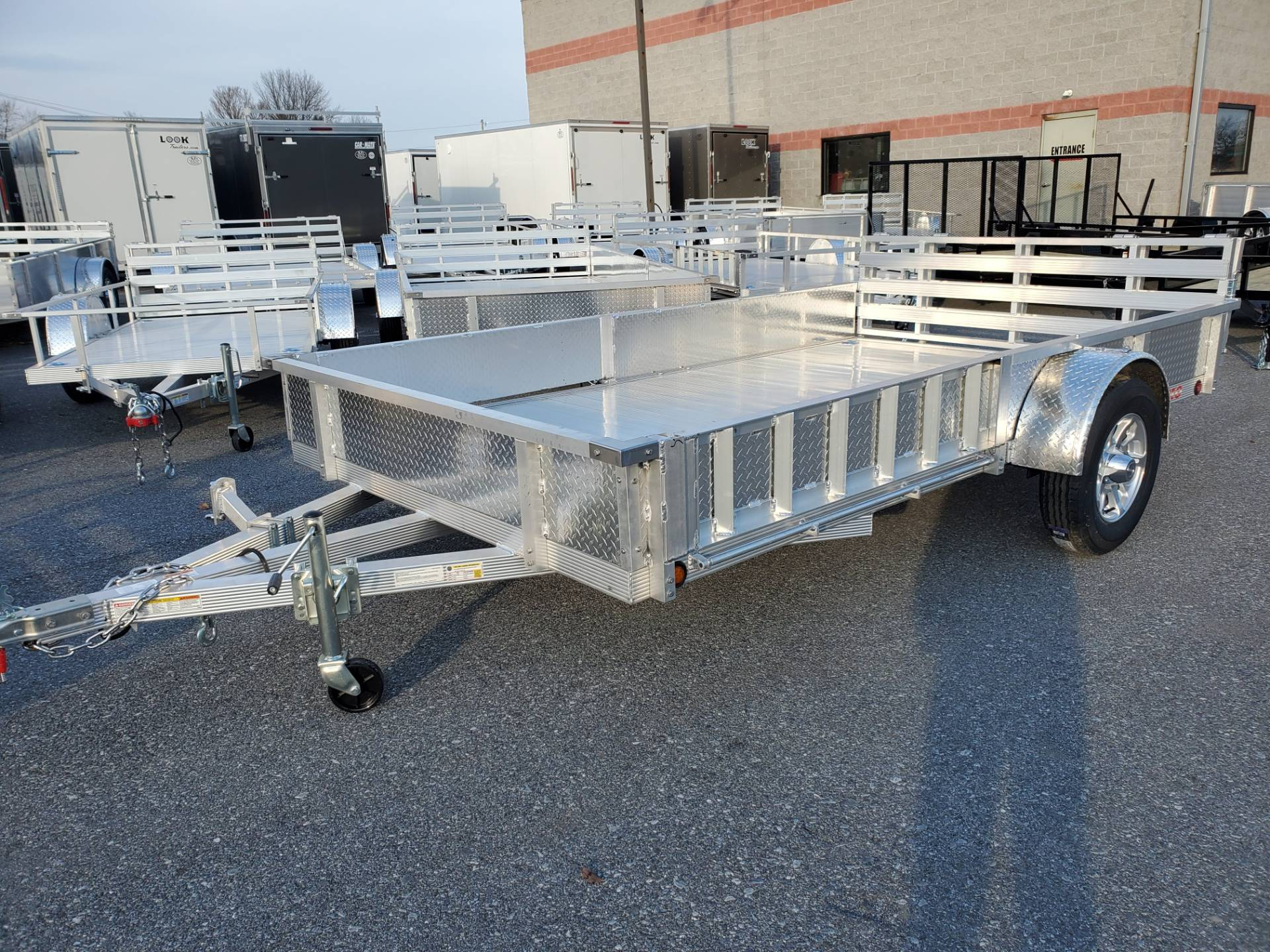 2022 Primo 82x12 Single Axle ATV Side Load ATV Ramps SS in Harrisburg, Pennsylvania - Photo 1