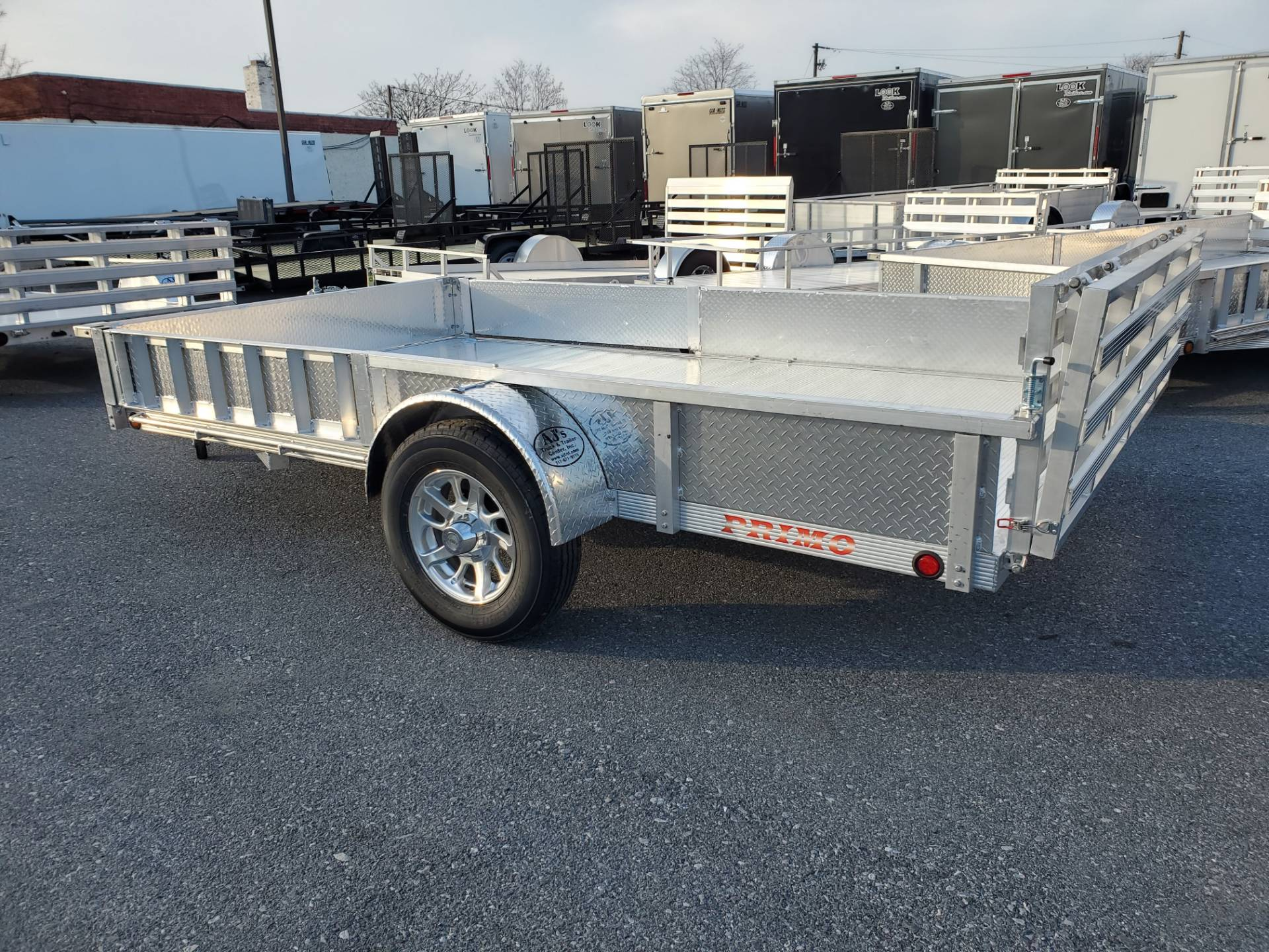 2022 Primo 82x12 Single Axle ATV Side Load ATV Ramps SS in Harrisburg, Pennsylvania - Photo 8