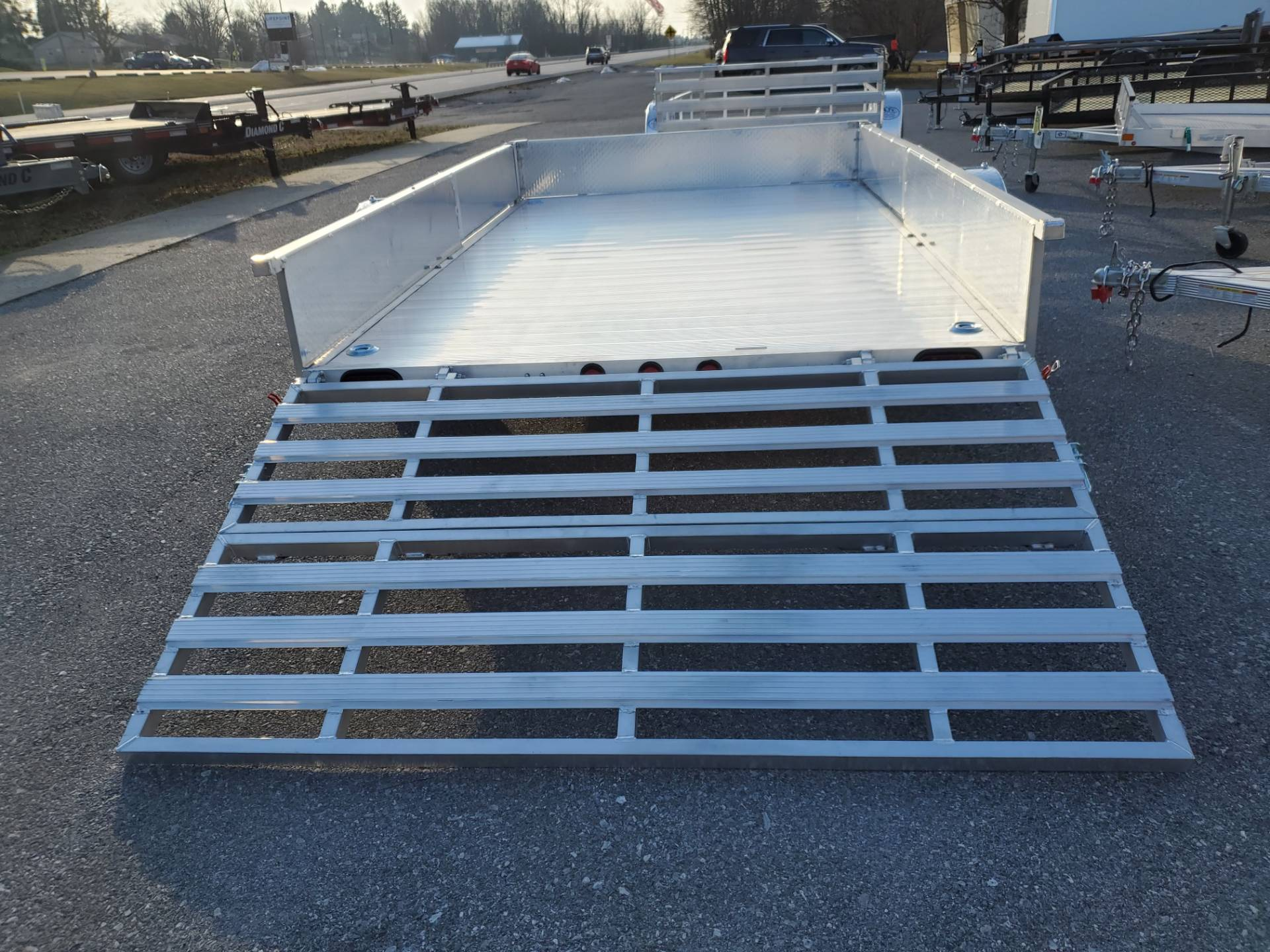 2022 Primo 82x12 Single Axle ATV Side Load ATV Ramps SS in Harrisburg, Pennsylvania - Photo 9