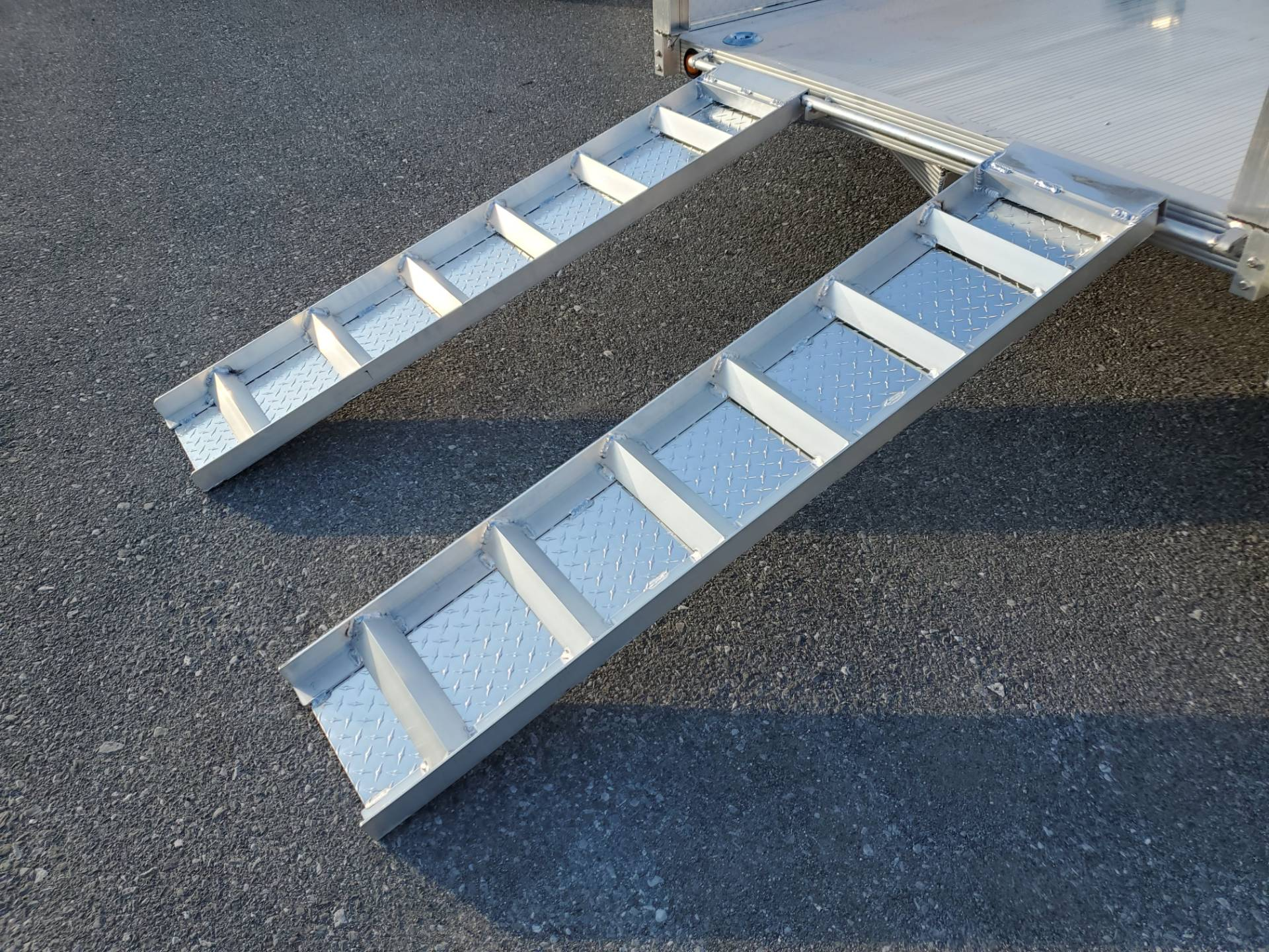 2022 Primo 82x12 Single Axle ATV Side Load ATV Ramps SS in Harrisburg, Pennsylvania - Photo 11