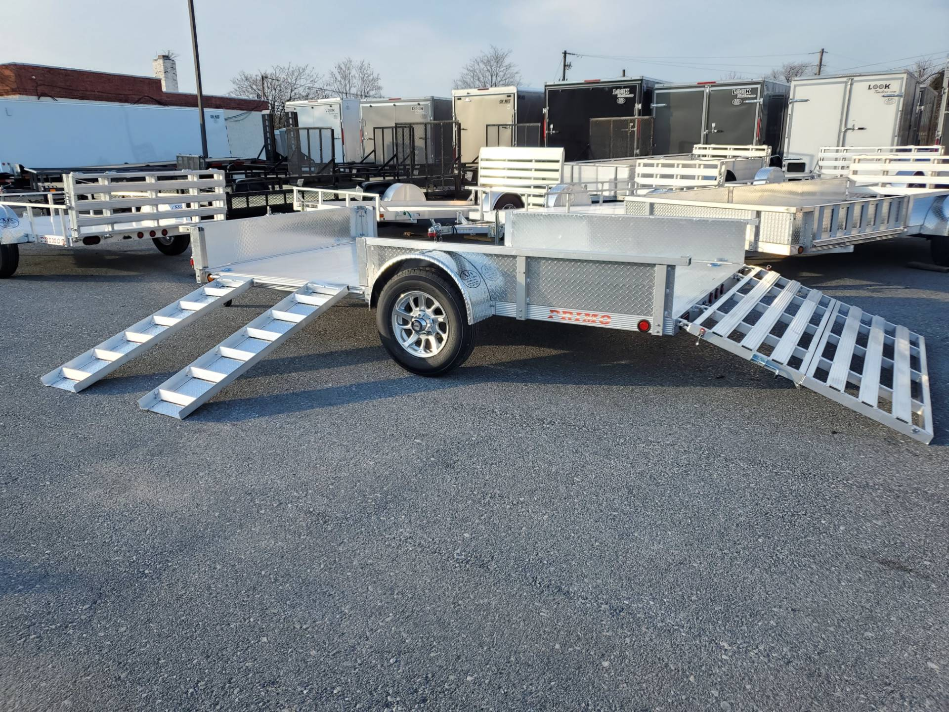 2022 Primo 82x12 Single Axle ATV Side Load ATV Ramps SS in Harrisburg, Pennsylvania - Photo 13