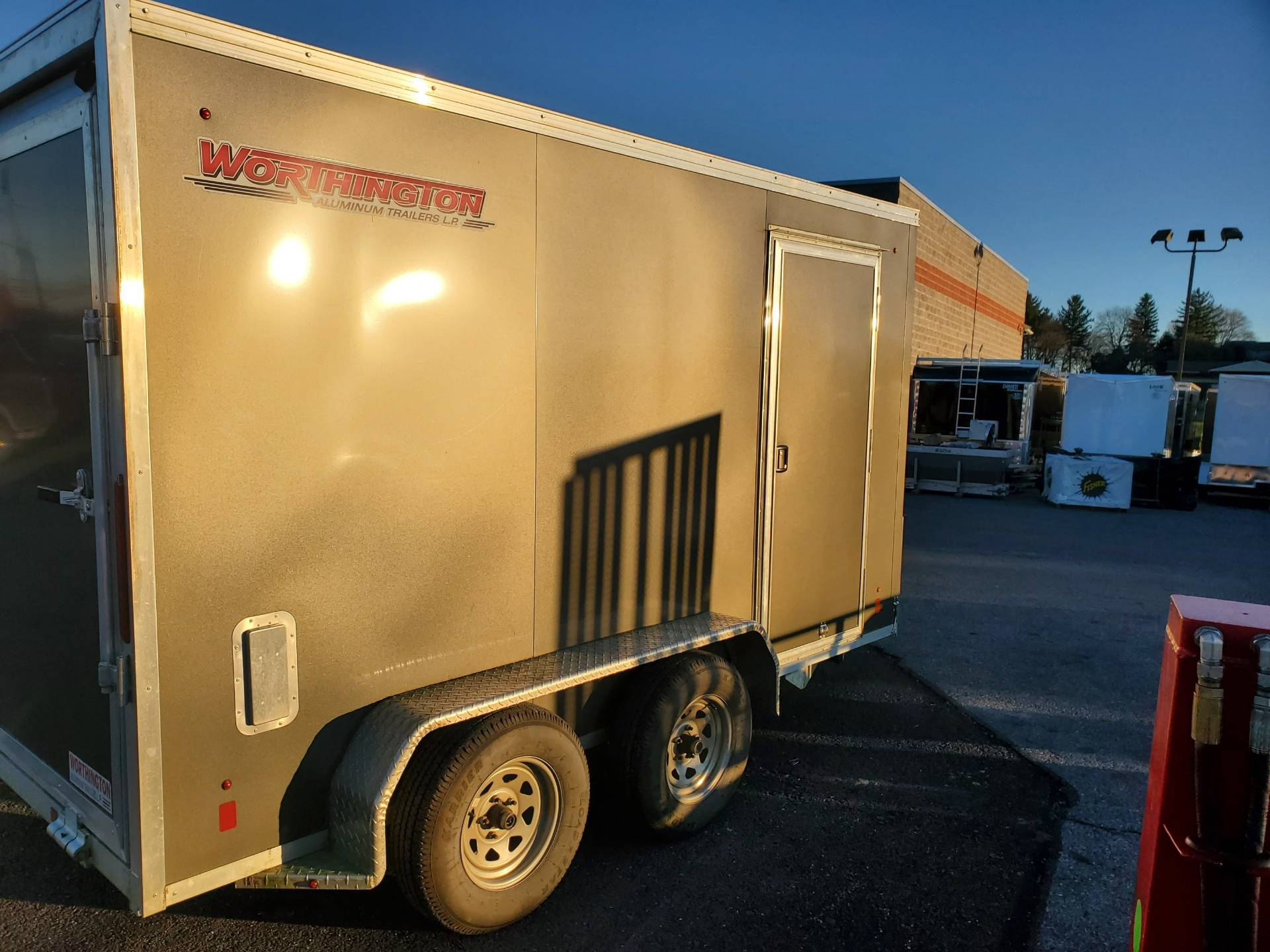 2016 USED UNITS Used Worthington 7x12 Aluminum Cargo Trailer in Harrisburg, Pennsylvania - Photo 8
