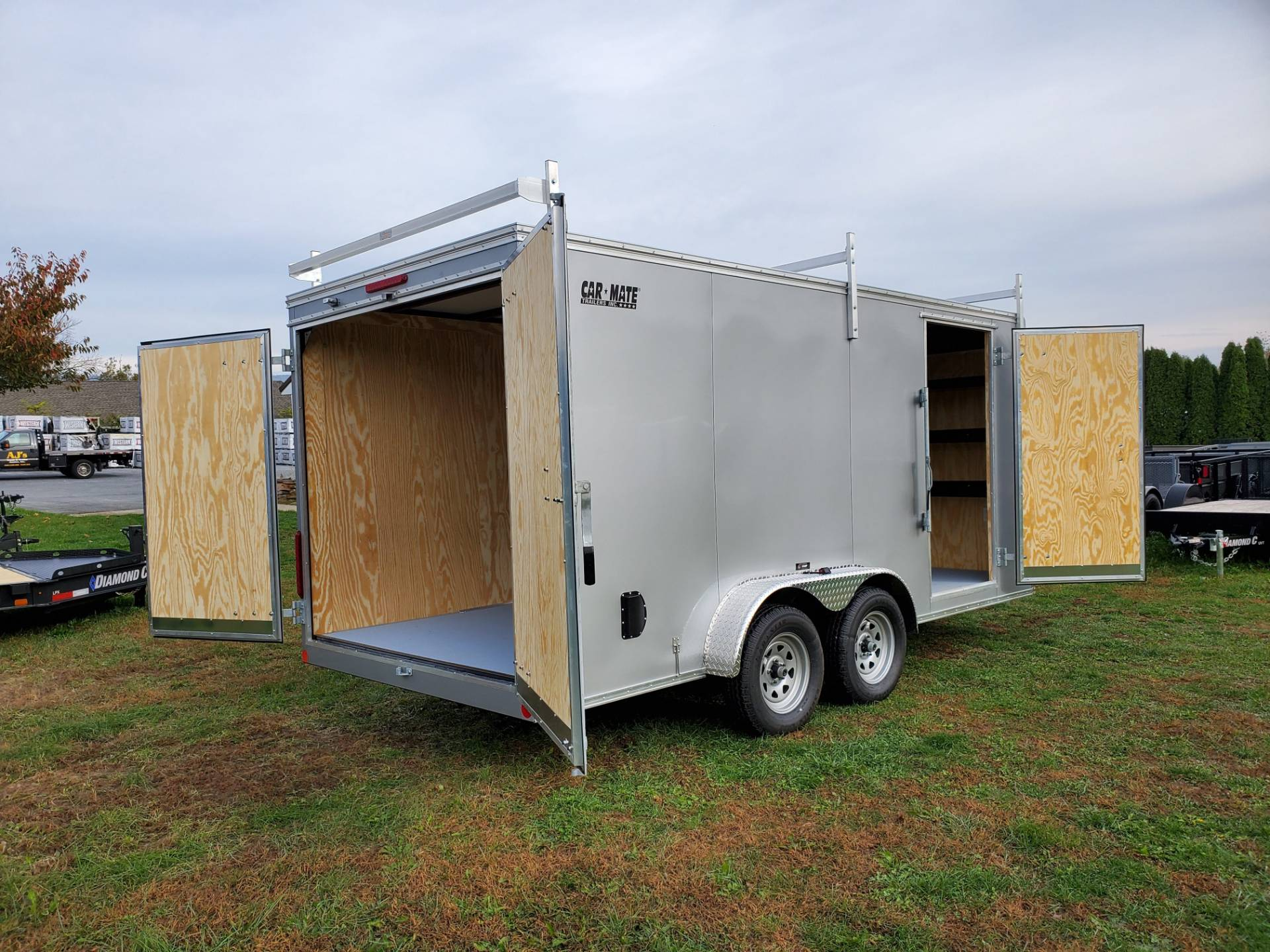 2020 Car Mate Trailers 7X16 Contractor Trailer PKG2 Double Door in Harrisburg, Pennsylvania - Photo 12