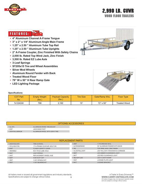 2021 Carry-On Trailers 7x12 AGW Aluminum Utility Trailer in Harrisburg, Pennsylvania - Photo 12