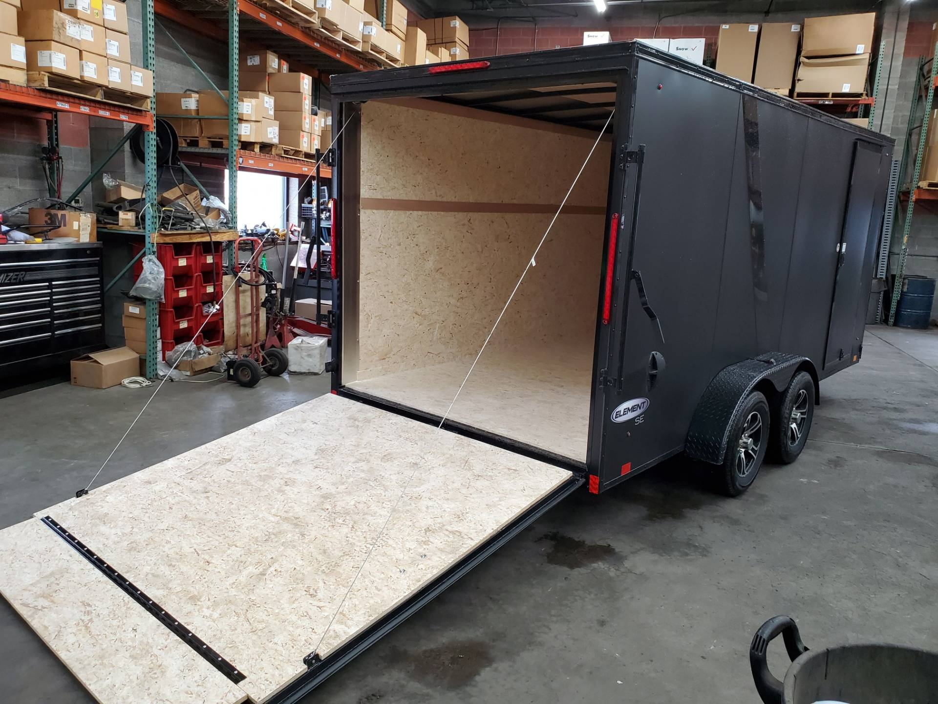 2021 Look Trailers 7X16 EWLC Black-Out Package Cargo Trailer Ramp ET+6 in Harrisburg, Pennsylvania - Photo 3
