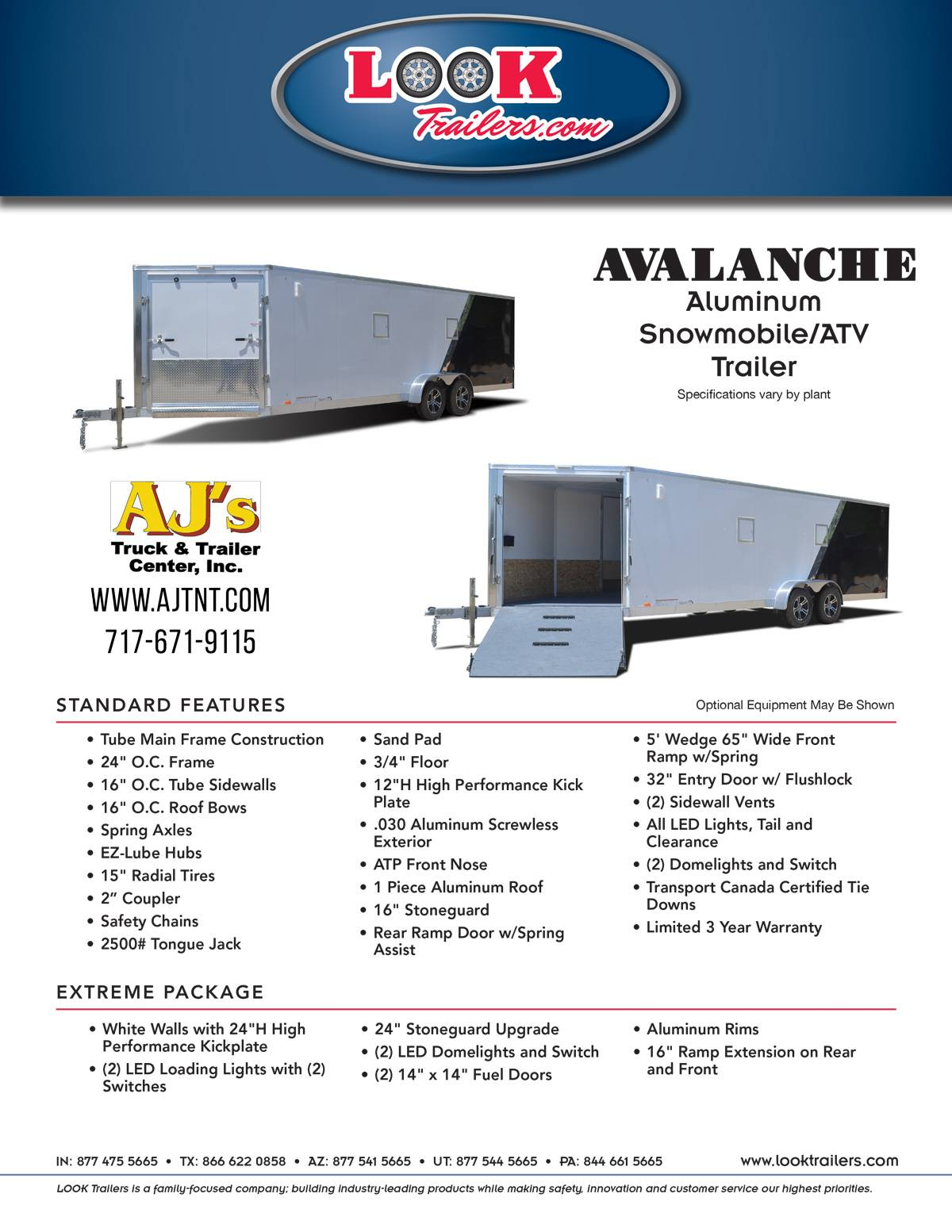 2020 Look Trailers 7x29 Avalanche Aluminum Enclosed Snowmobile Trailer 7K +6 in Harrisburg, Pennsylvania - Photo 25