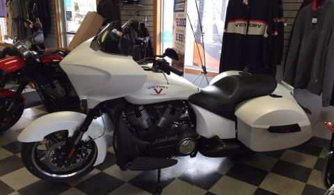 2016 Victory Cross Country Suede White Frost in Red Wing, Minnesota