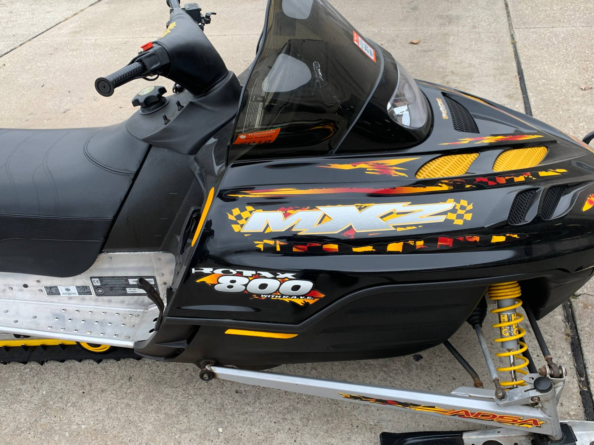 2001 Ski-Doo MX Z - Adrenaline 800 in Wilmington, Illinois - Photo 4