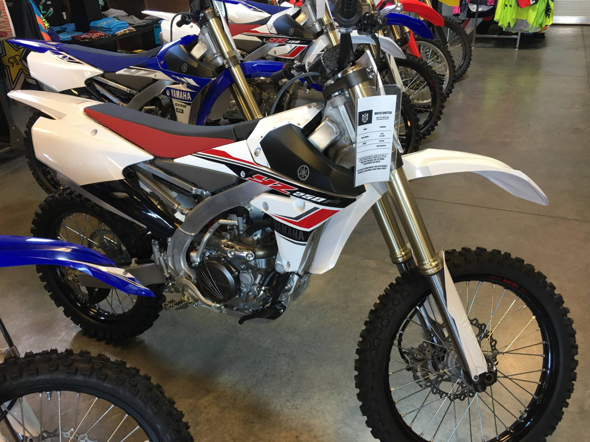 2017 Yamaha YZ250F in Saint George, Utah