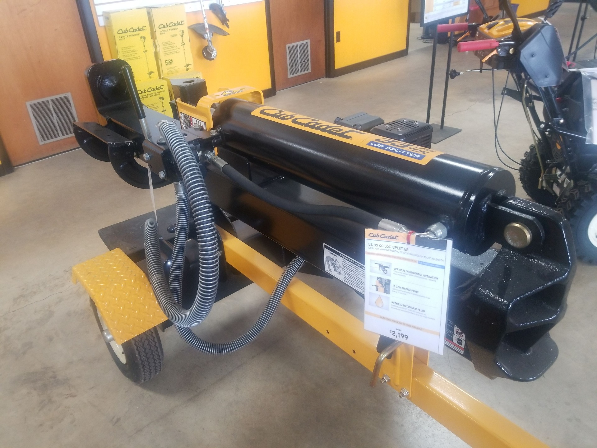 Cub Cadet LS 33 CC Log Splitter in Berlin, Wisconsin - Photo 1
