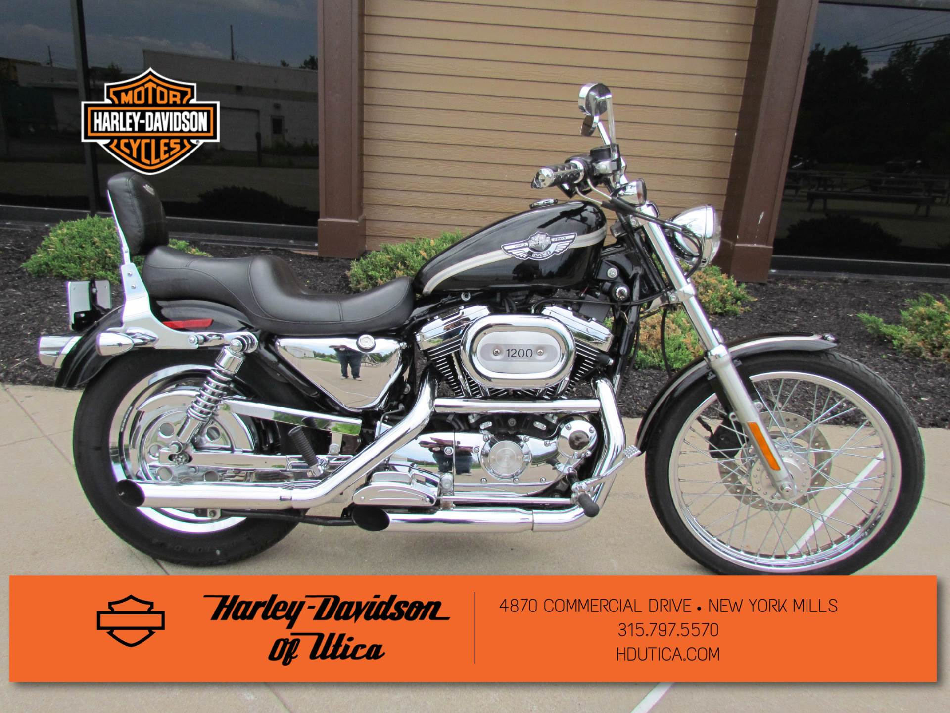 2003 Harley-Davidson XL 1200C Sportster® 1200 Custom in New York Mills, New York - Photo 1