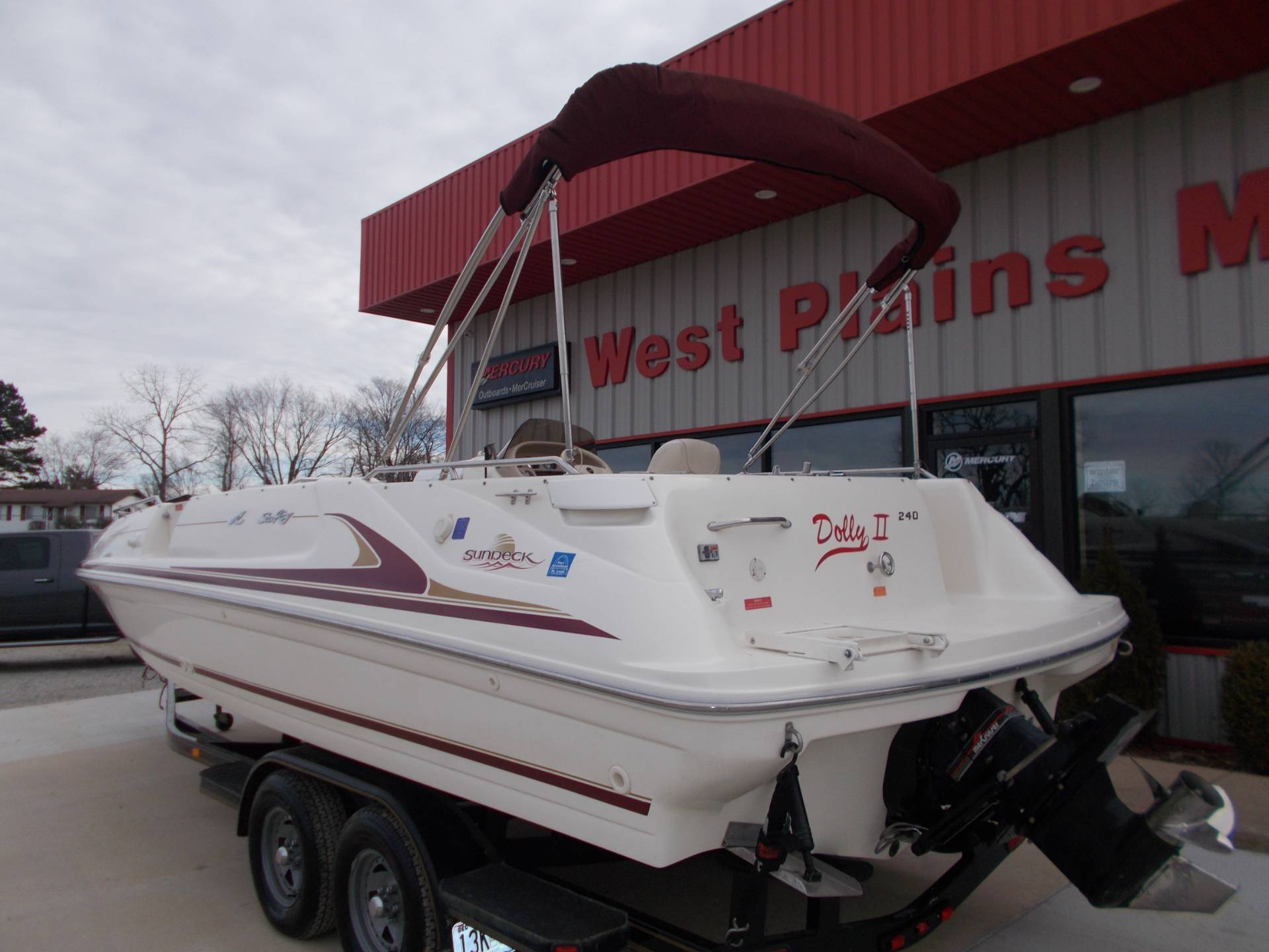1996 SEARAY SUNDECK 240 W/ 5.7L I/OW/ '96 TRAILER in West Plains, Missouri - Photo 7