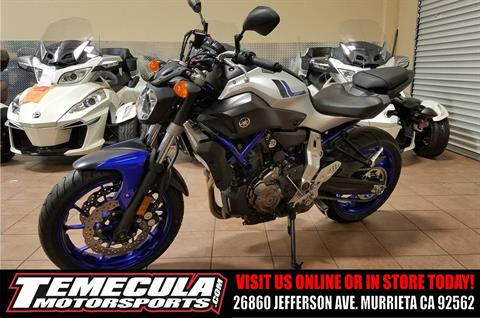 2016 Yamaha FZ-07 in Murrieta, California