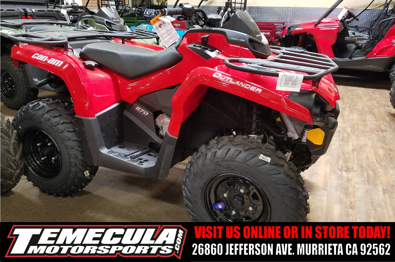 2017 Can-Am Outlander 570 in Murrieta, California