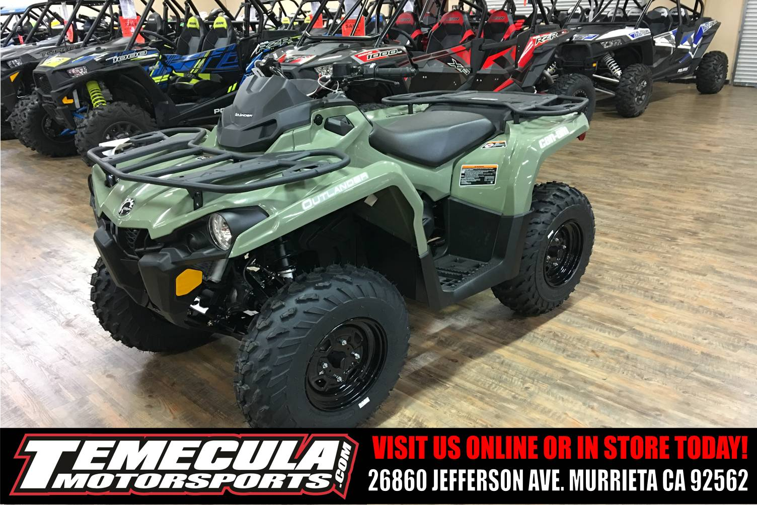 new 2018 can am outlander 450 atvs in murrieta ca stock number c000052. Black Bedroom Furniture Sets. Home Design Ideas