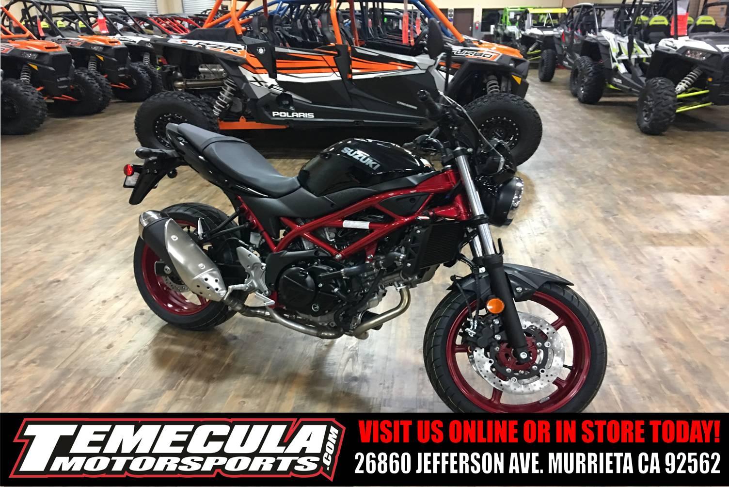 new 2018 suzuki sv650 motorcycles in murrieta ca stock. Black Bedroom Furniture Sets. Home Design Ideas