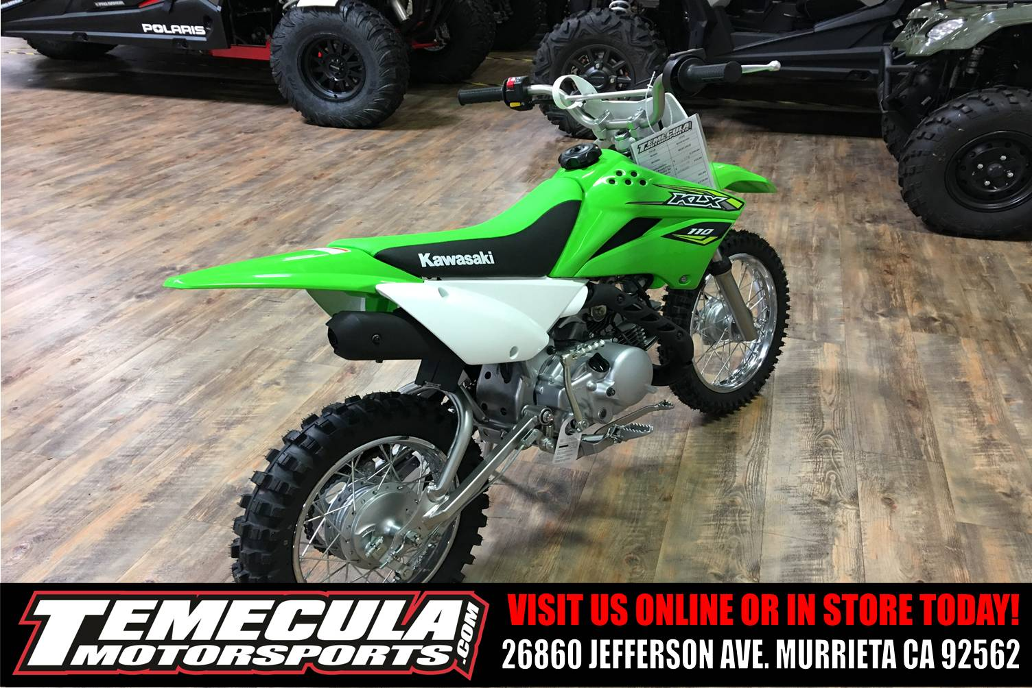 New 2018 Kawasaki KLX 110 Motorcycles in Murrieta, CA | Stock Number ...