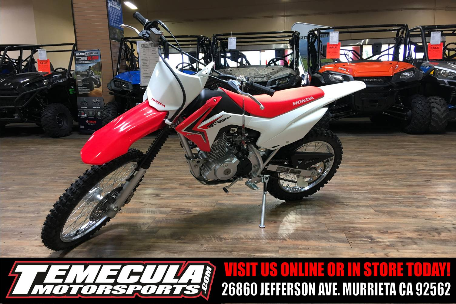 2018 Honda CRF125F (Big Wheel) in Murrieta, California