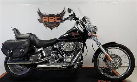 2007 Harley-Davidson FXSTC Softail Custom-Vivid Black in Waterford, Michigan