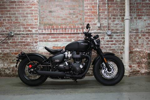 2019 Triumph Bonneville Bobber Black in Greensboro, North Carolina - Photo 1