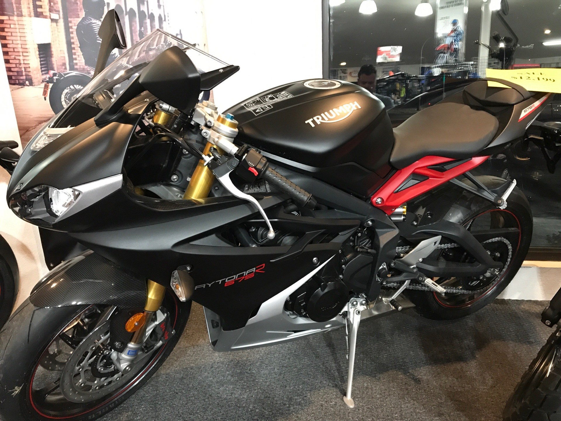 2016 Triumph Daytona 675 R ABS in Belle Plaine, Minnesota