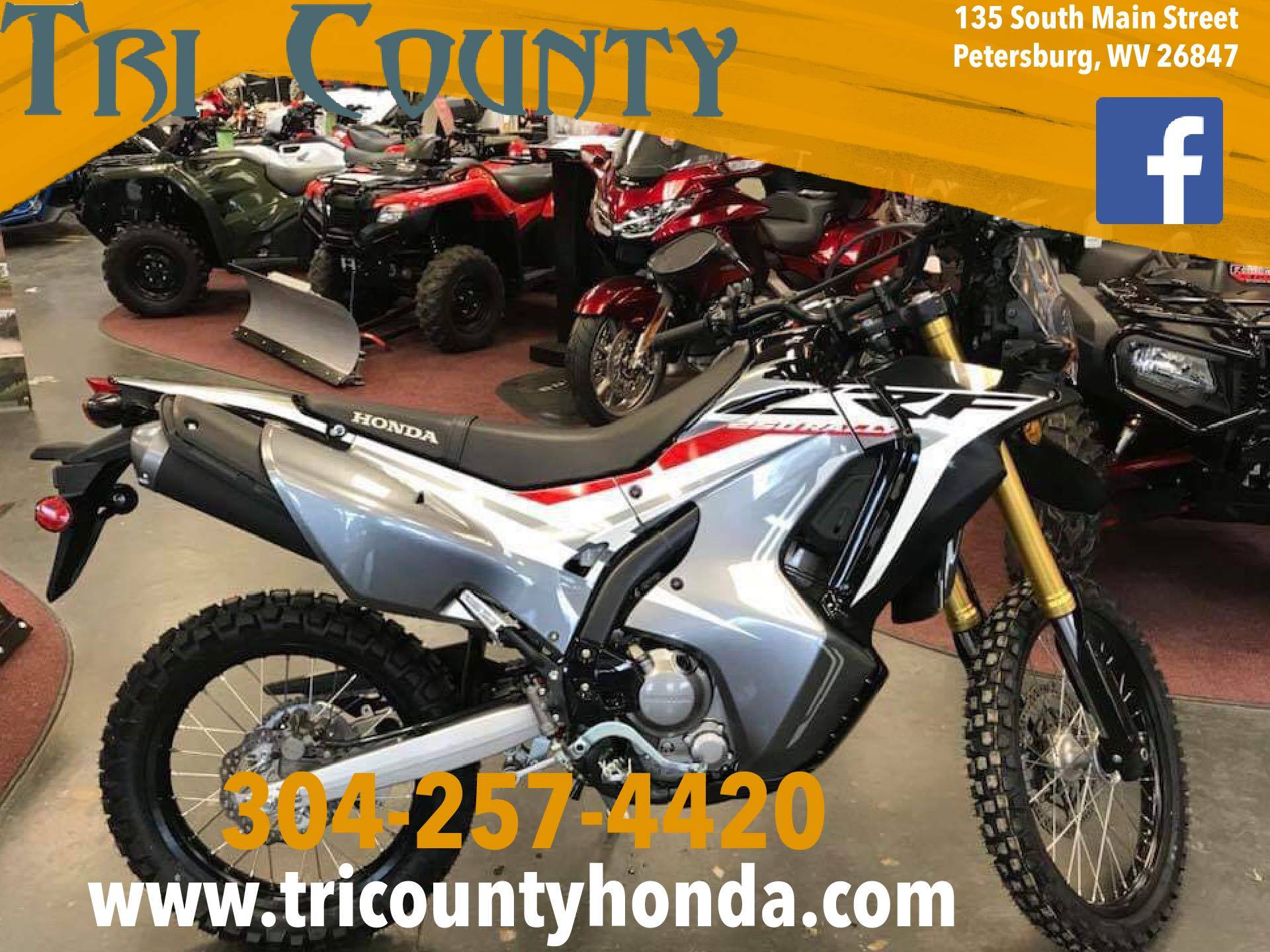 2018 Honda CRF250L Rally in Petersburg, West Virginia