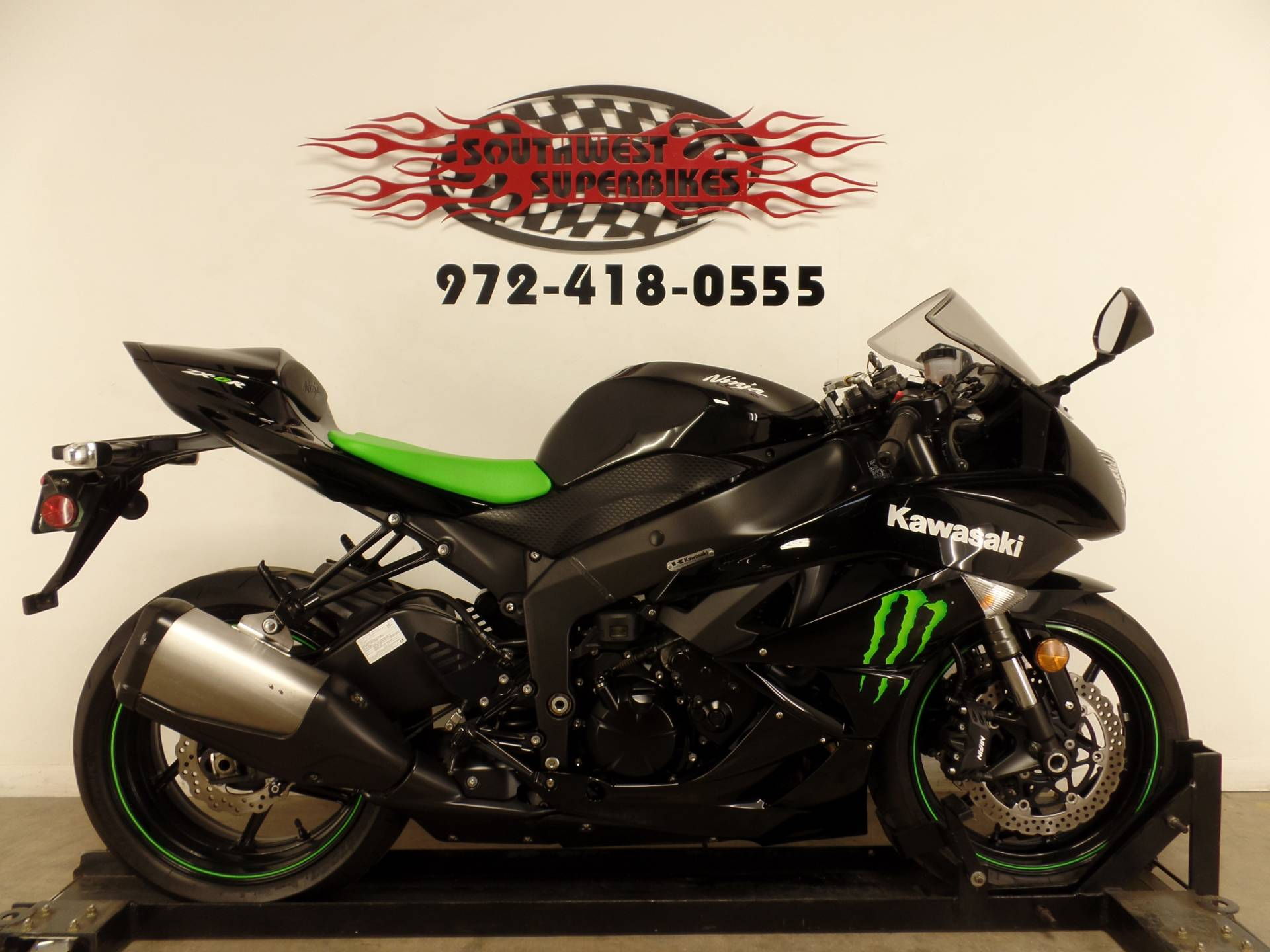 2009 Kawasaki Ninja® ZX™-6R Monster Energy® in Dallas, Texas