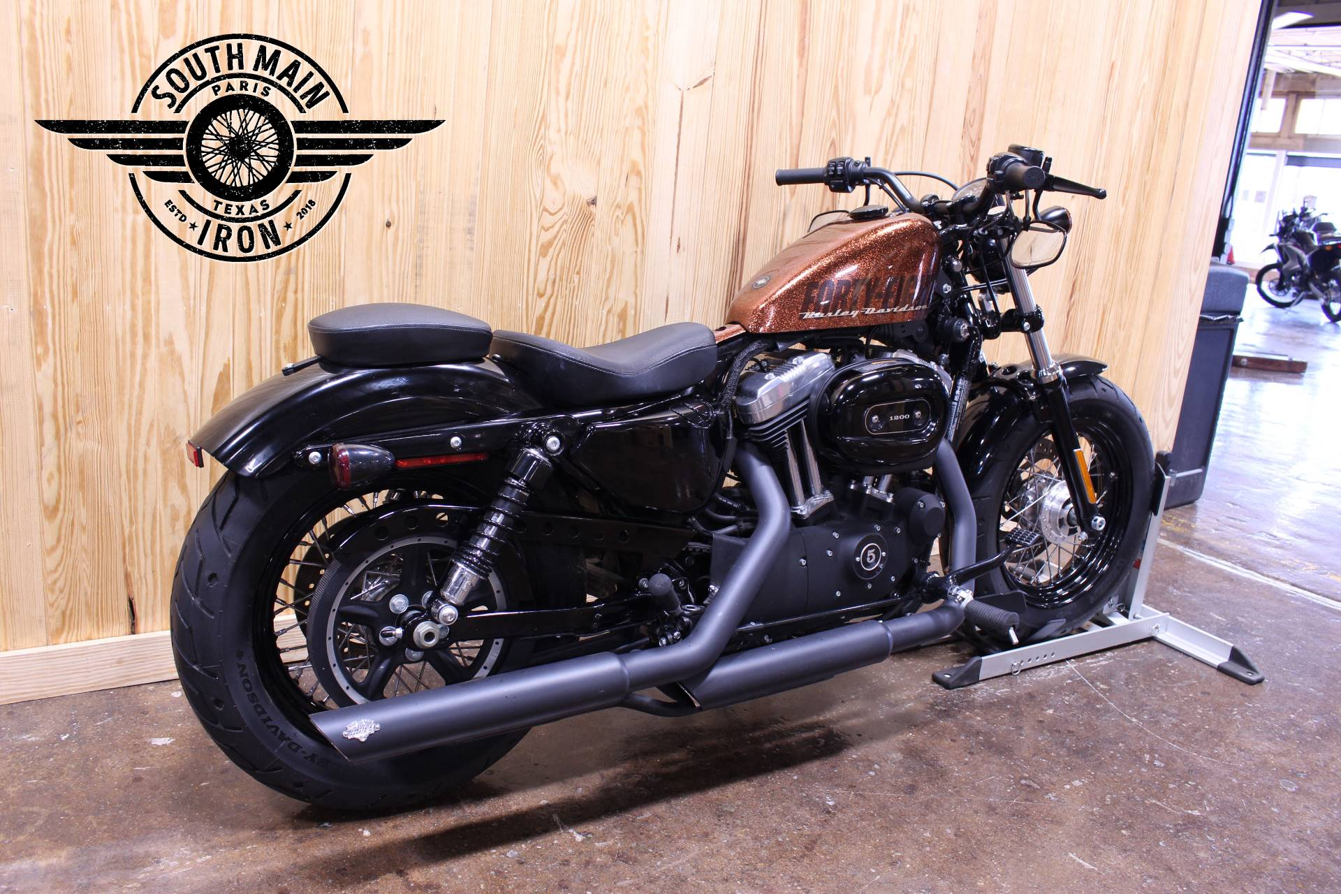 Used 2014 Harley Davidson Sportster Forty Eight Motorcycles In Paris Tx Har438020 Hard Candy Volcanic Orange Flake