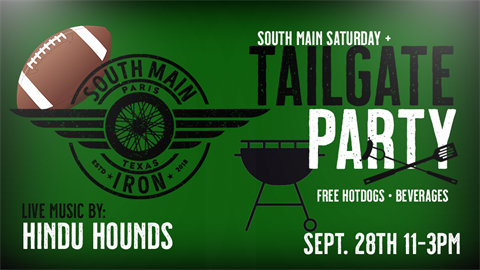 Tailgate party at South Main Iron