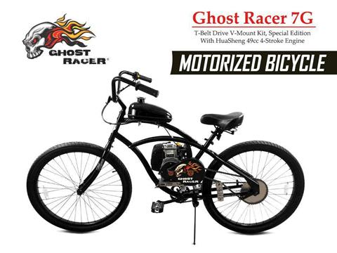 2019 Gas Bike  GHOST 7G T-BELT DRIVE MOTORIZED BICYCLE in Atlantic Beach, Florida