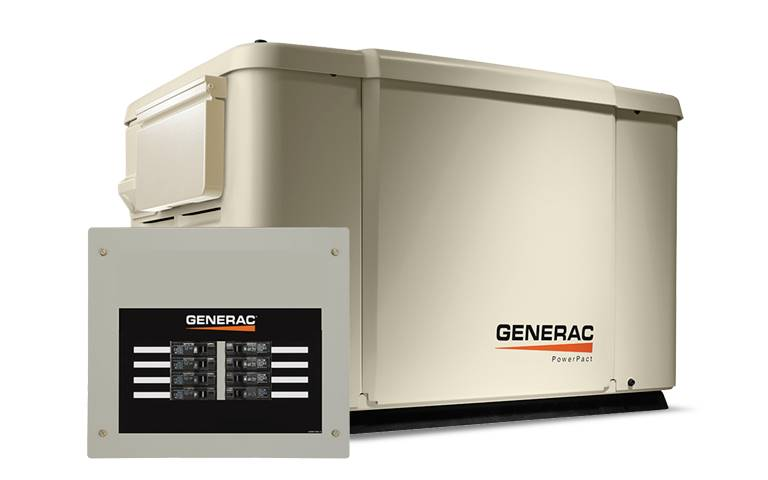 Generac PowerPact 7.5kW Home Backup Generator with 8-circuit Transfer Switch in Jacksonville, Florida
