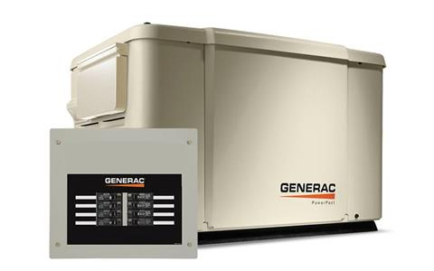 2019 Generac PowerPact 7.5kW Home Backup Generator with 8-circuit Transfer Switch in Jacksonville, Florida